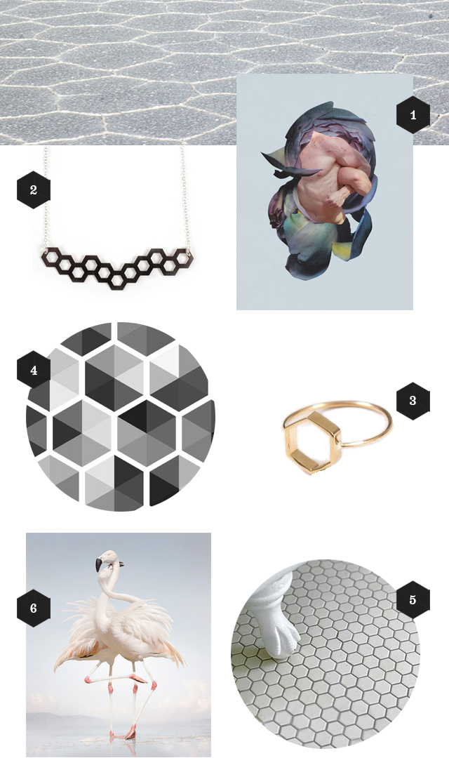 hexagon inspired objects