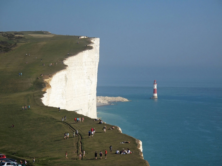 beachy head, white cliffs of dover, england